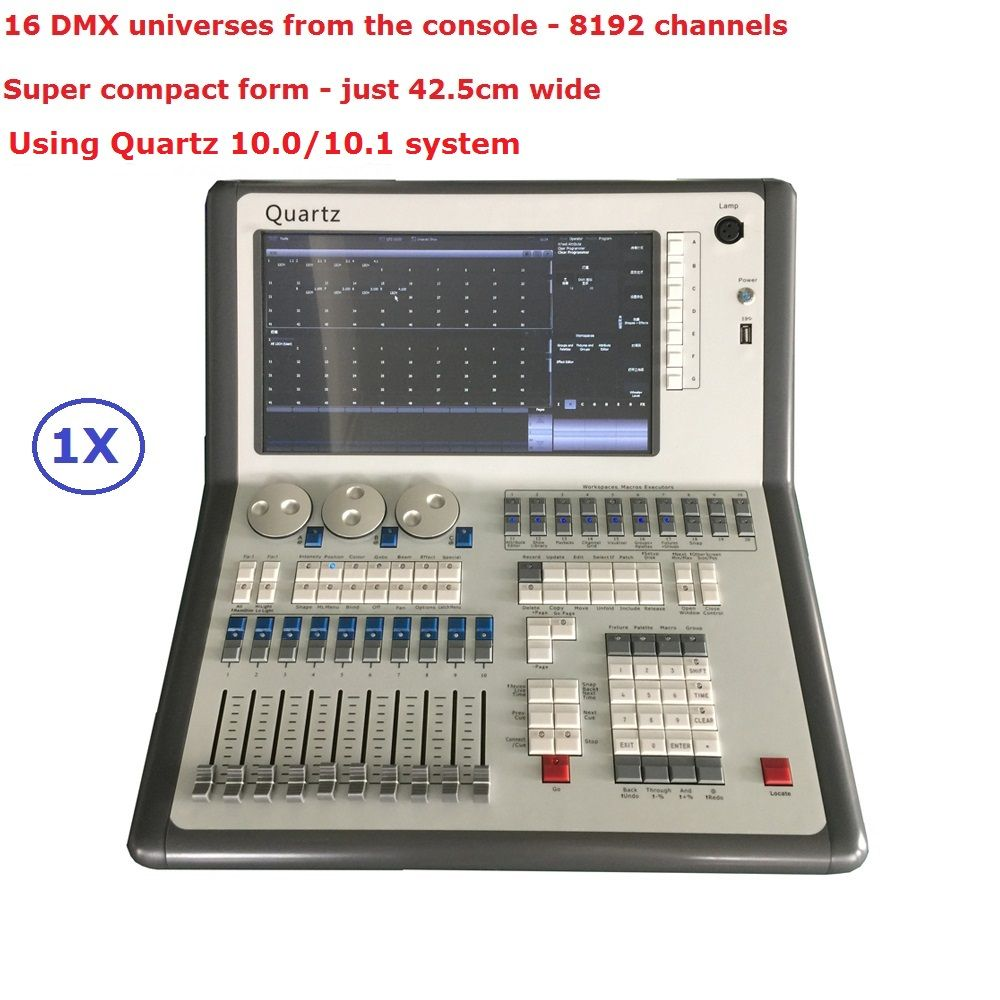 2017 Newest Compact Mobile DMX Stage Lighting Controller 10.0/10.1 System Avolites Quartz Titan Mobile With 8192 DMX Channels