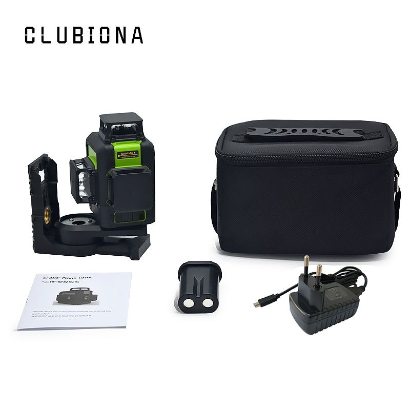 Clubiona 3D 12RC 12 Lines Laser Level with Self-Leveling 360 Horizontal And Vertical Cross Super Powerful Red Laser Beam Lines