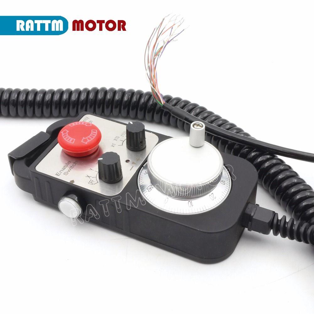 RUS/EU Lieferung! Notfall stop Handrad Universal CNC Router Hand Rad 4 Achsen MPG Anhänger Handrad Notfall Stoppen