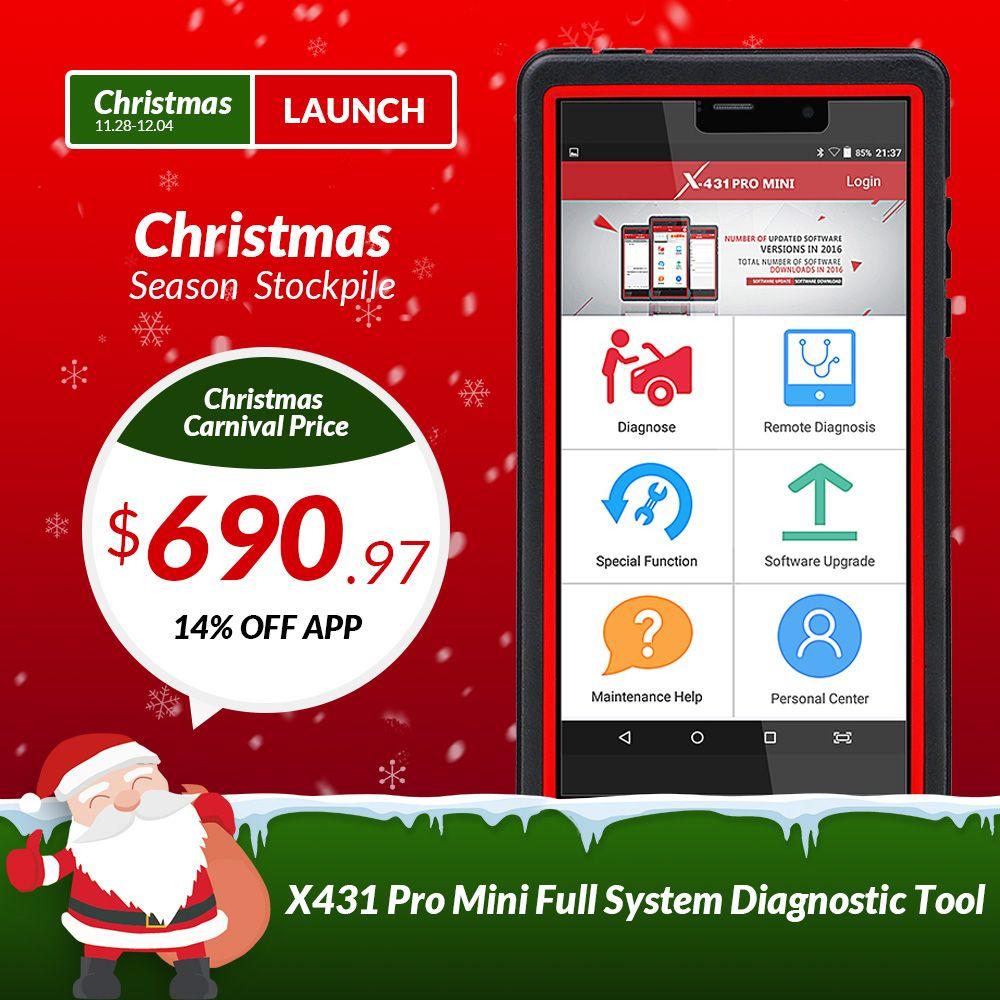 STARTEN X431 Pro Mini Volle Systeme Auto Diagnose scanner WiFi/Bluetooth X-431 Pro profis mini auto Scanner 2 jahre freies update