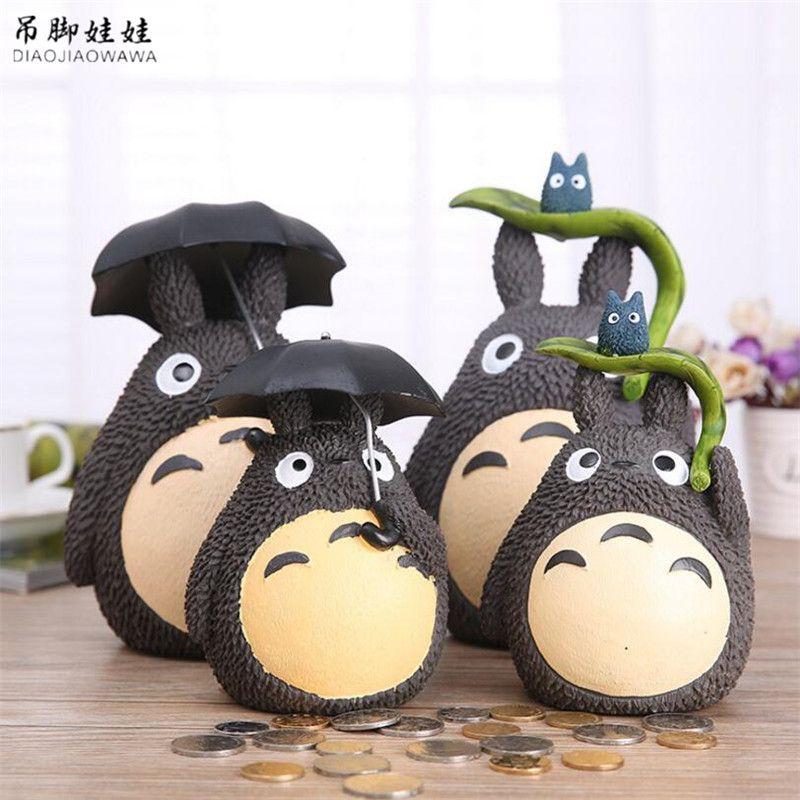 Mon Voisin Totoro Tirelire Résine Totoro Figurines Japonais Style Coin Tirelire 1 Pièce Livraison Gratuite