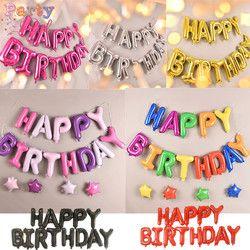 Feliz cumpleaños air letras alfabeto ramadan foil globos niños juguete cumpleaños fiesta helio globos partido baloon