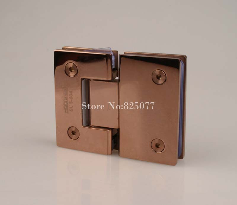 Rose Gold 180 Degree Hinge Open 304 Stainless Steel Glass Shower Door Hinges For Home Bathroom Furniture Hardware HM155