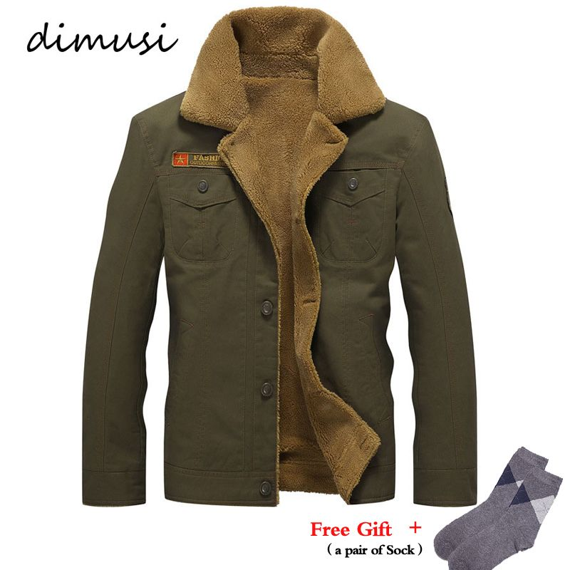 DIMUSI Mens Winter Jacket Men's Military Fleece Warm jackets Male Fur Collar Tactical Jacket Male Jaqueta Masculina 5XL,PA061