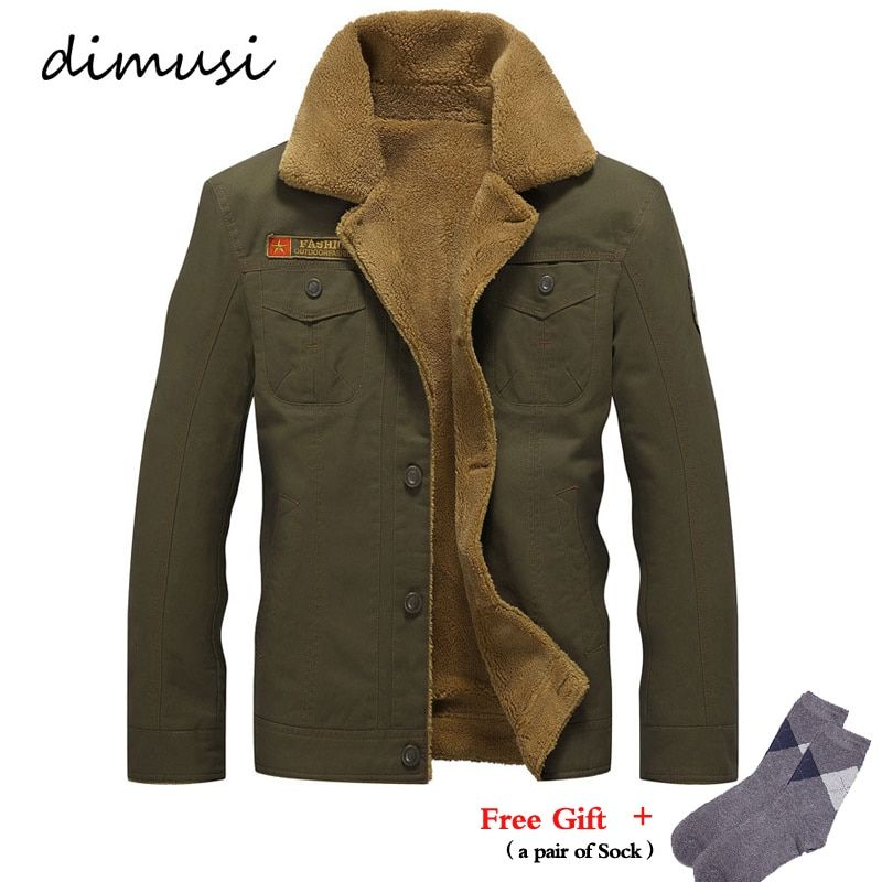 DIMUSI Winter Jacket Mens Military Fleece Warm jackets Male Fur Collar Coats Male Tactical Jacket Jaqueta Masculina 5XL,PA061