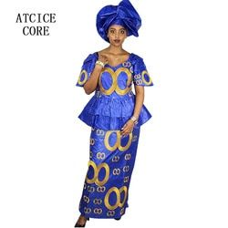 african dresses for women FREE SHIPPING NEW FASHION DESIGN AFRICAN BAZIN RICHE EMBROIDERY SHORT RAPPER WITH SCARF  DP184#