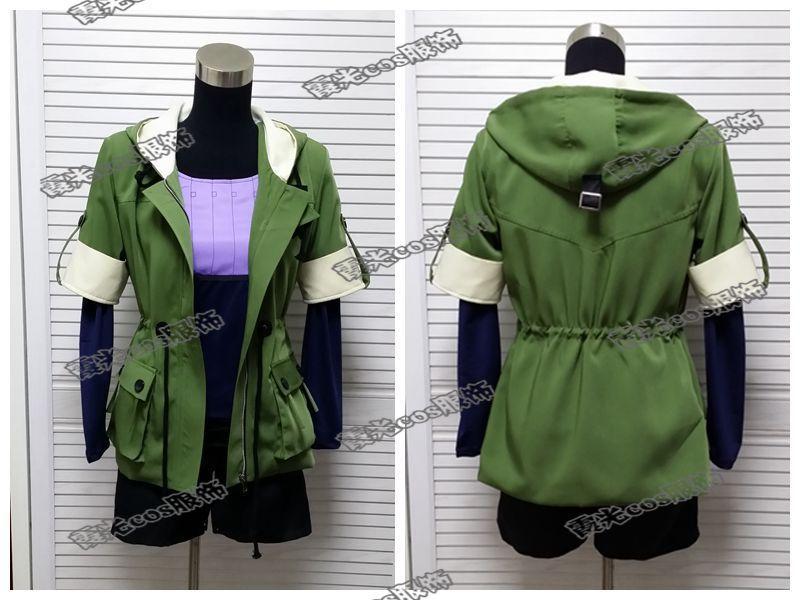 Tokyo Ghoul Touka Kirishima Cosplay Kostüm Grün Hoodie jacke + voll shirt + kurze hosen + socken Jeder größe