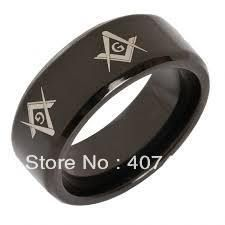 Free Shipping Cheap Price USA Canada UK Russia Brazil Hot Sales 8MM Beveled Black Men's Masonic Tungsten Wedding Ring Size 6-13