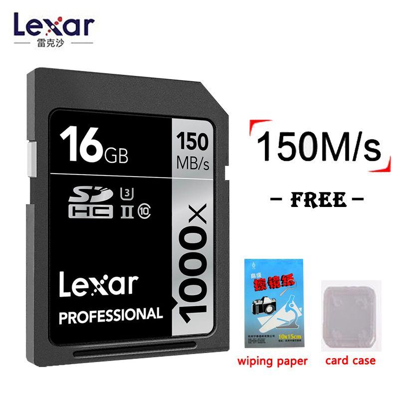 Lexar Original 1000x150 mb/s-Speicher sd karten 32 gb 16 gb 128 gb high speed 64 gb 256 gb SDHC/XC UHS-II U3 Karte Für 3D 4 karat