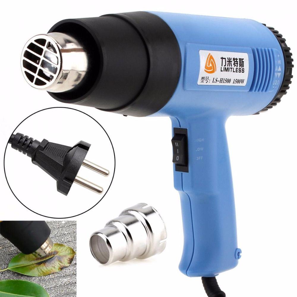Limitless haute qualité AC220V EU Plug 1500 W réglable Volume d'air électrique pistolet à chaleur multifonctionnel pistolet à Air chaud portatif