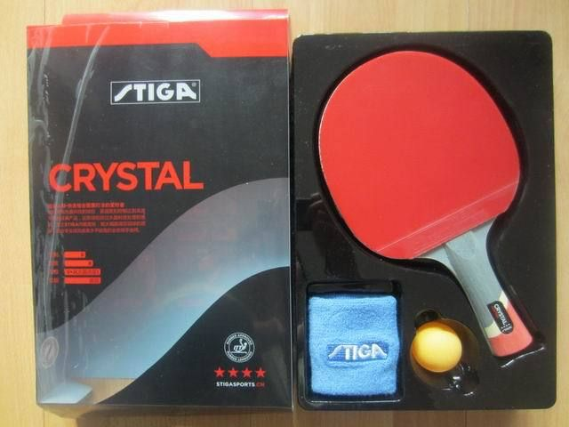 D'origine STIGA CRISTAL AVEC 4 ÉTOILES tennis de table raquettes pour offensive fini raquettes sports de raquette pingpong pagaies