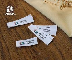 Personnalisé Plat pliage Tags/étiquettes de marque, à coudre Étiquettes, Étiquettes de Vêtements Sur Mesure, nom Tags, étiquettes à la main