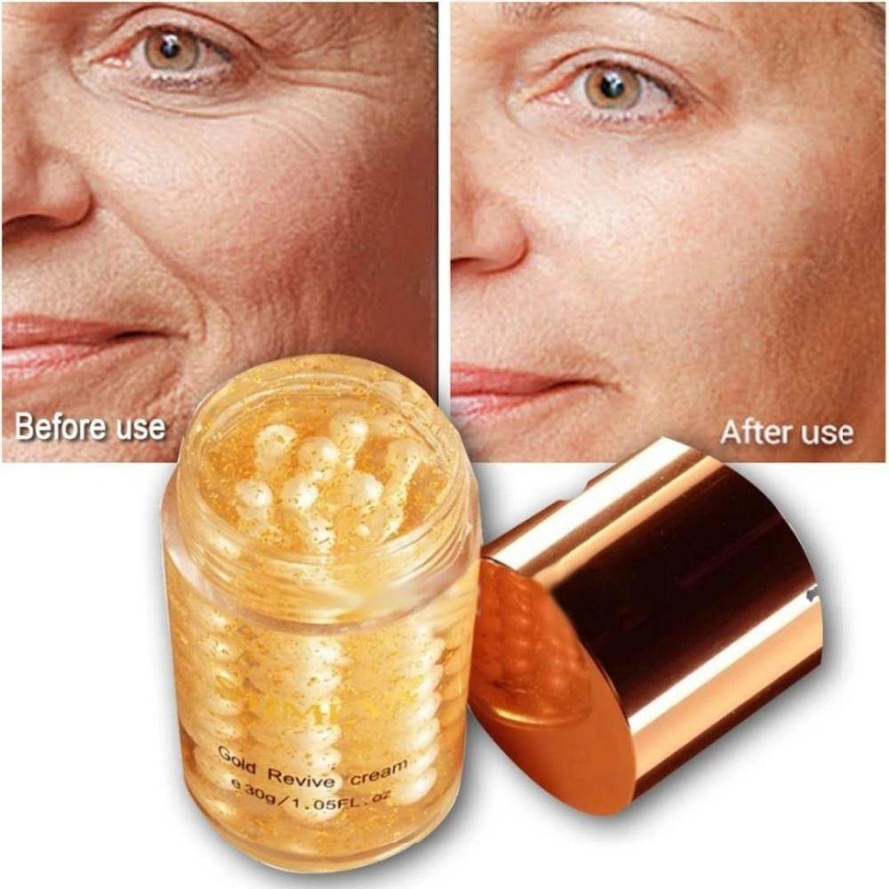 Crème pour le visage 24 k or pur perle Soins de La Peau blanchissant hydratant Anti vieillissement Rides sérum crema antiarrugas acido hialuronico 30g
