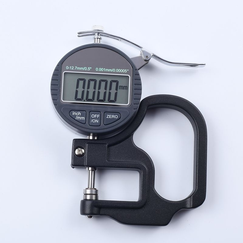 0.001mm Digital Thickness Gauge Meter 10mm Portable LCD Electronic Micrometer micron Thickness Tester With RS232 Data Output