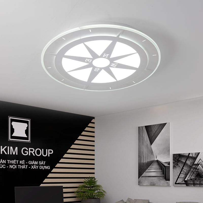 DX Study Room LED Compass ceiling lighting ceiling lamps for the living room chandeliers Ceiling for Children room