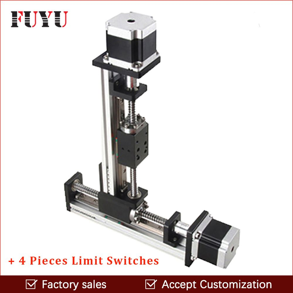 Free shipping cnc XY linear motion axis slide table stage ball screw stepper motor drive