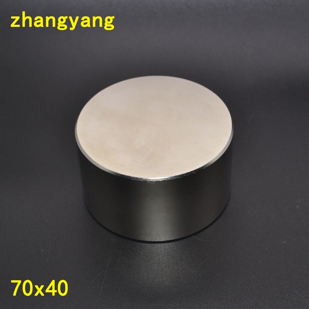 Neodymium magnet 70x40 N52 rare earth super strong powerful round welding search permanent magnets 70*40 70x40 mm gallium metal