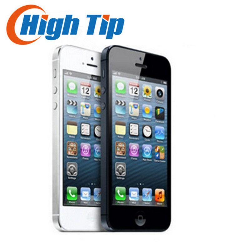 Boîte scellée 100% usine débloqué original iphone 5 apple téléphone portable 16 gb 32 GB ROM 16 GB 32 GB 64 GB IOS 4.0 pouce 8MP WIFI GPS Utilisé