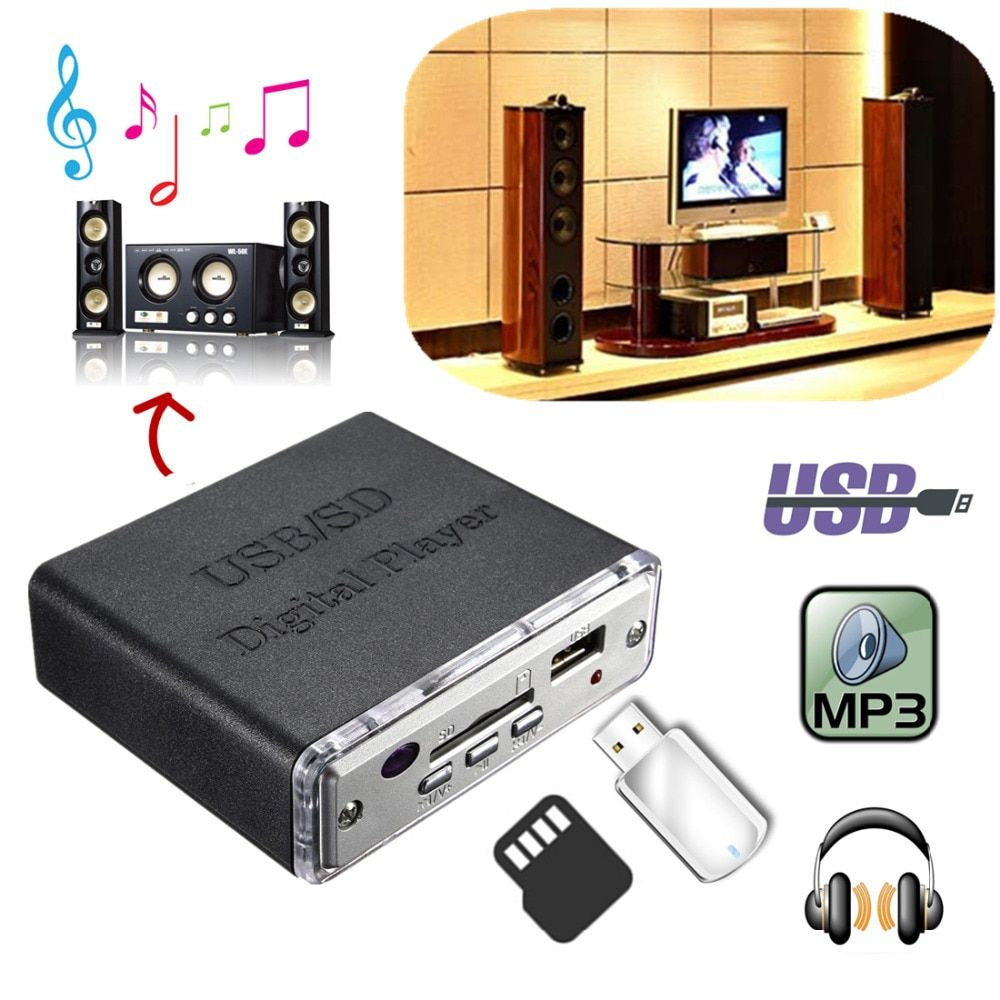 12V Mini Motocycle Auto Car Stereo Amplifier Amp LED USB / SD Digital Player SD MMC MP3 USB Input with Remote Controller