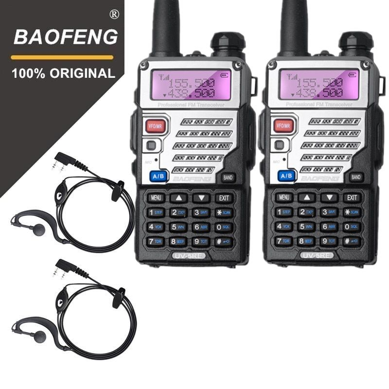 2 PCS BaoFeng UV-5RE Walkie Talkie Dual Band Two Way Radio Pofung Portable Ham Radio Transceiver Baofeng Handheld Walky Talky