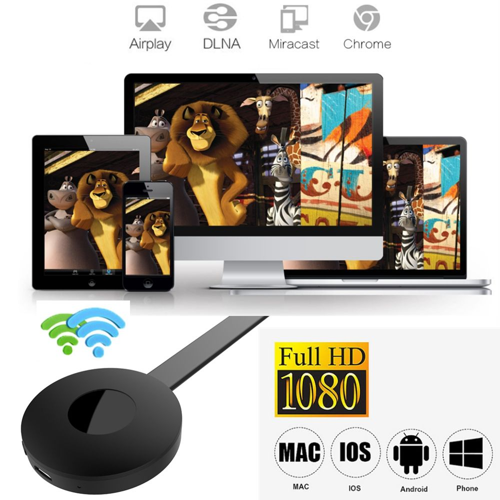 Chromecast Media Video HDMI Wireless WiFi Display Miracast Adapter Dongle 1080P HDTV For YouTube Google Chromecast 2 TV Stick G2