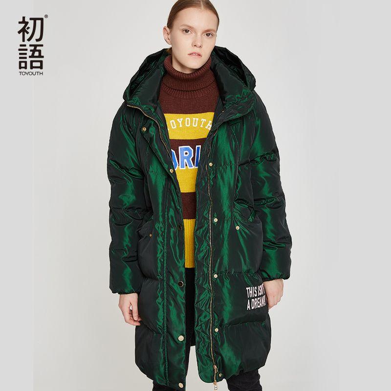 Toyouth Ente Unten Frauen Winter Mantel Mit Kapuze Abrigo Mujer Outwear Lange Mantel Puffer Schwarz Warme Jacke Verdickung Mäntel Plus Größe