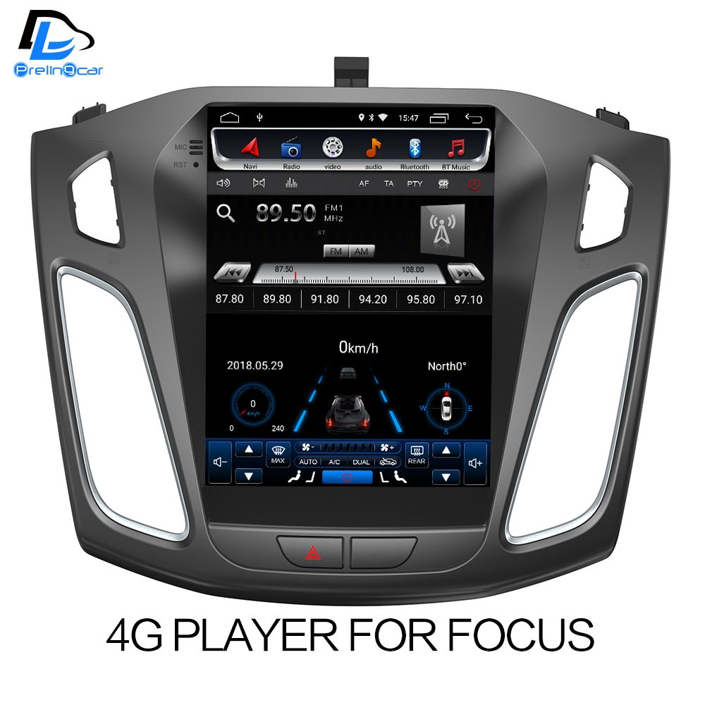 32G ROM Vertical screen android car gps multimedia video radio player for ford focus salon 2012-2016 years navigation stereo