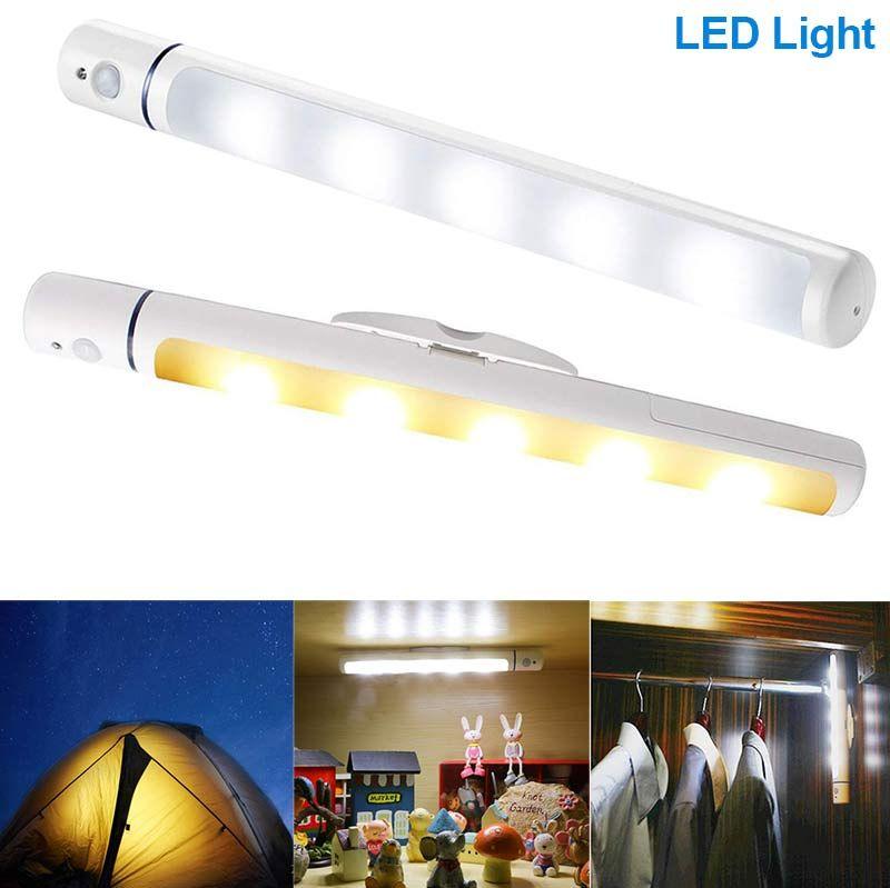 Wireless LED Light With Magnetic Body IR Infrared Motion Sensor Lamp For Kid Bedroom Closet Wardrobe ALI88