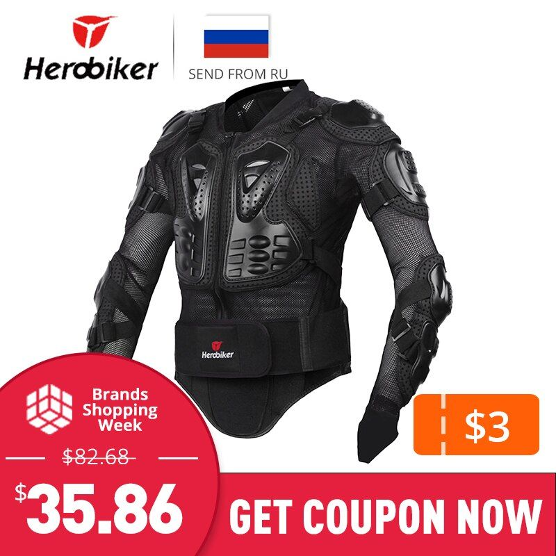 HEROBIKER Motorcycle Jacket Men Full Body Motorcycle Armor Motocross Racing Protective Gear Motorcycle Protection Size S-XXXL