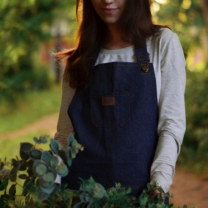 2016 New Aprons Denim Simple Blue Uniform Unisex Adult Jeans Aprons for Woman Men's Male Lady's Kitchen Cooking Pinafores