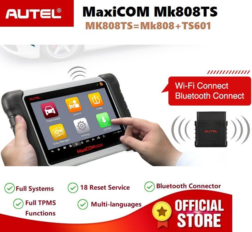 Autel MaxiCOM MK808TS OBD2 Diagnose Service Scan Tool Auto Scanner TPMS Programmierung Sensor und Bluetooth PK MK808 TS608