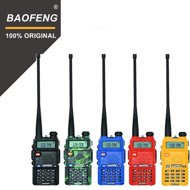 100% D'origine Baofeng UV-5R Talkie Walkie Double Bande Professionnel 5 w VHF et UHF à Deux Voies Radio UV5R De Poche Chasse HF Émetteur-Récepteur