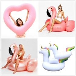 Diamond Giant Swimming Ring Flamingo Unicorn Inflatable Pool Float Swan Pineapple Floats Toucan Peacock Water Toys boia piscina