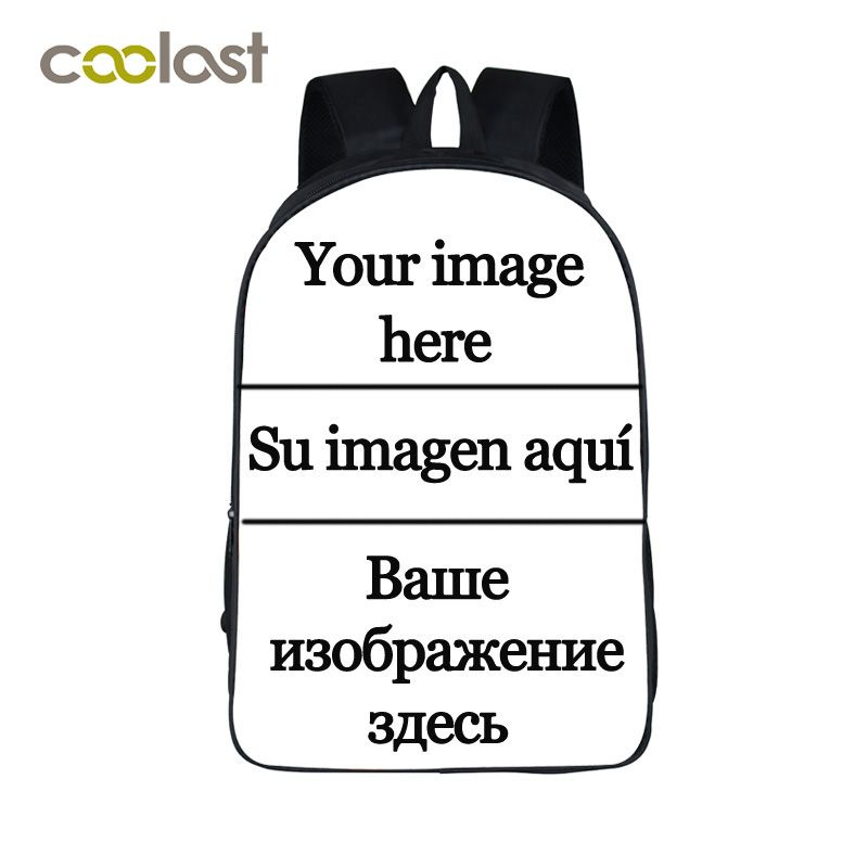 Customize the Image Backpack for Teenagers Girls Boys School Bags Big Red Lips bolso mochila <font><b>mujer</b></font> 2018 Punk Women Skull Bagpack