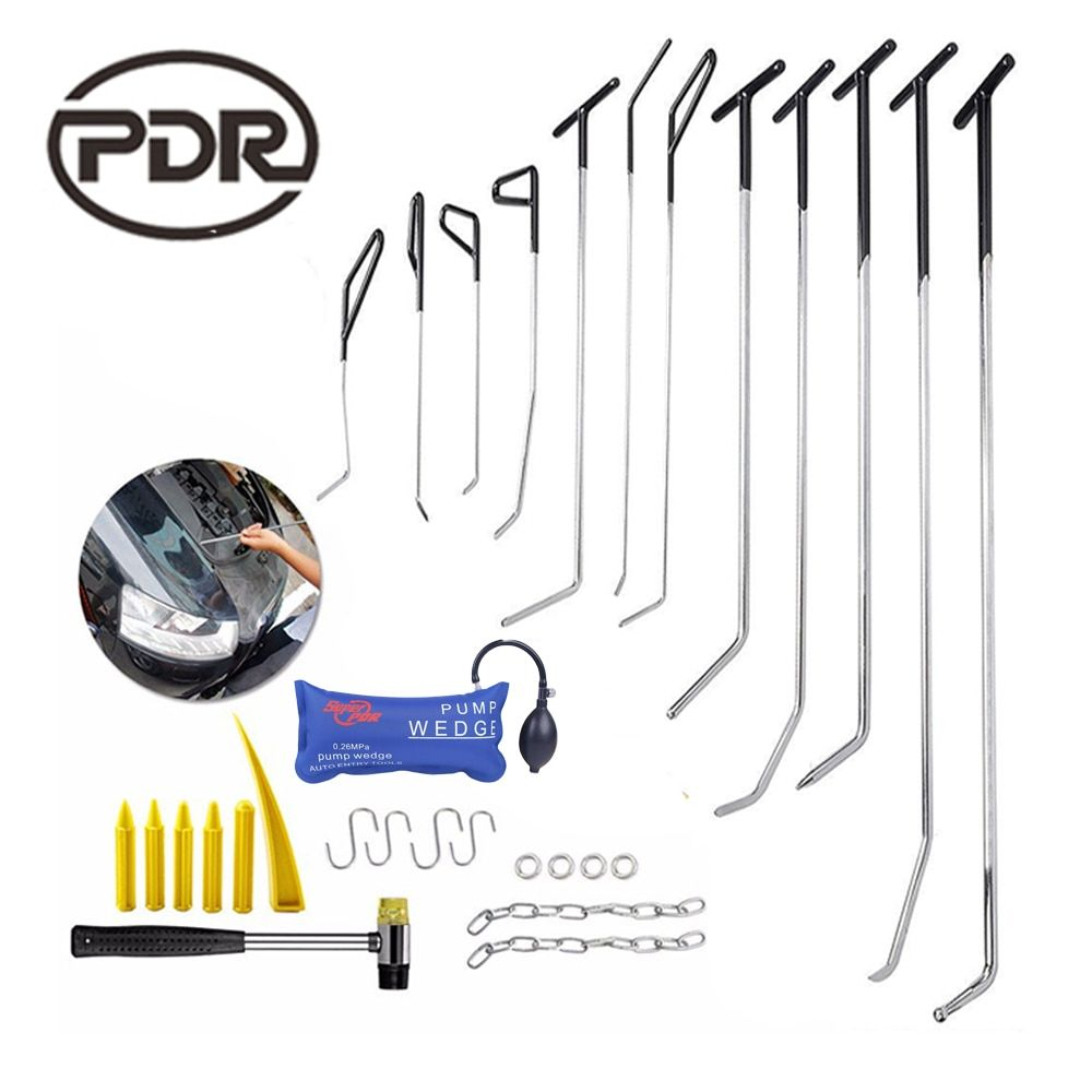 PDR Tools Spring hook Tool Fix Dent Removal Tool Kit Car Damage Repair Dent Puller Bodywork Automotive Repair Updated Quality