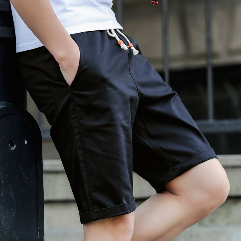 Men's Classic-Fit 5-Pockets Cargo Short Cotton Elastic Fleece casual Shorts