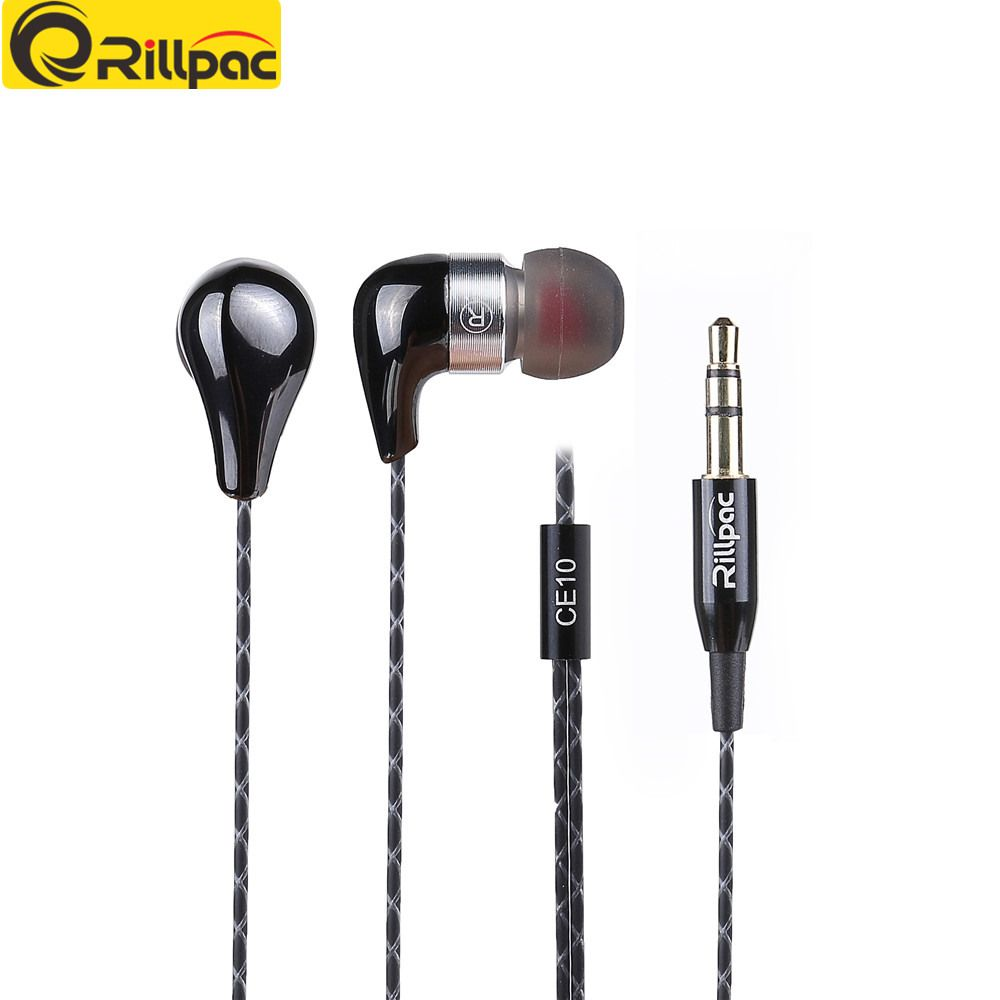 Rillpac CE10 écouteurs stéréo intra-auriculaires à isolation phonique en céramique Construction métallique écouteurs HiFi pour écouteurs de marque de téléphone portable