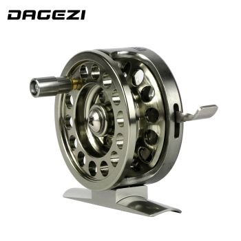DAGEZI New all-metal Machined Aluminum Fly Fishing Reel 50mm 4#/65m Left Right Handed ice fishing reel