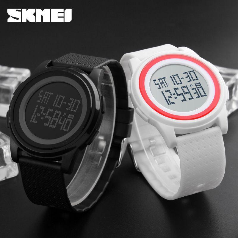 SKMEI 1206 Men Women LED Digital Wristwatches Relogio Masculino <font><b>Feminino</b></font> Waterproof Sport Thin Fashion Simple Dial Mens Watch
