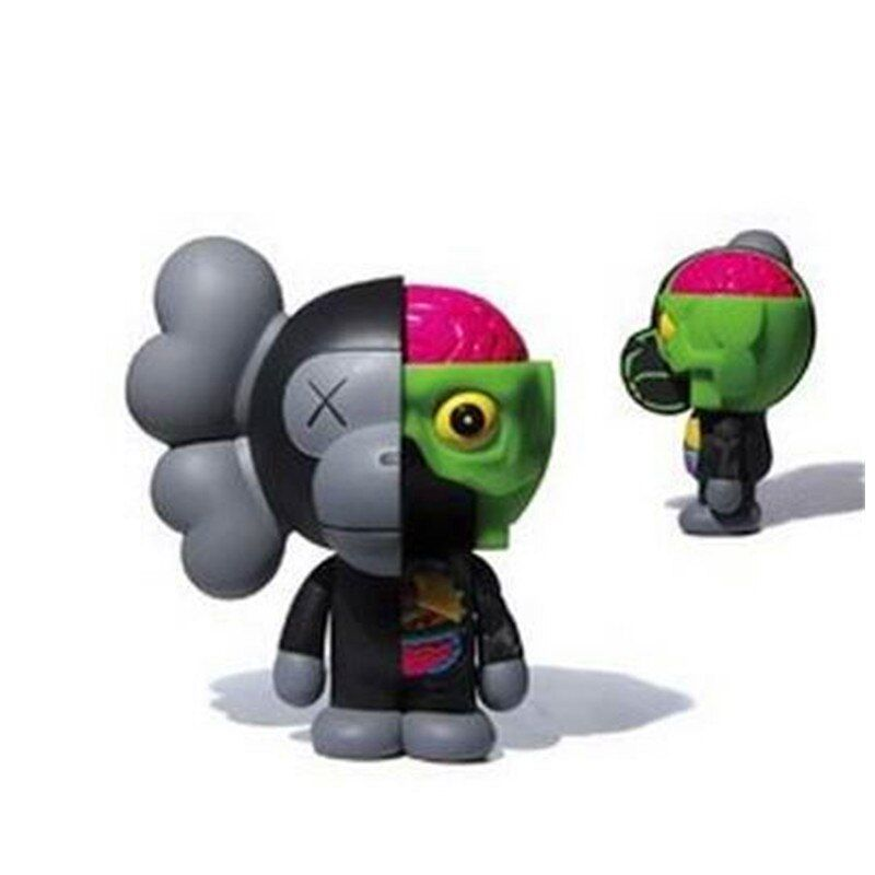 Medicom Toy Original Fake KAWS Anatomical Apes MILO Dissected Companion Street Art PVC Action Figure Collectible Model Toy S163