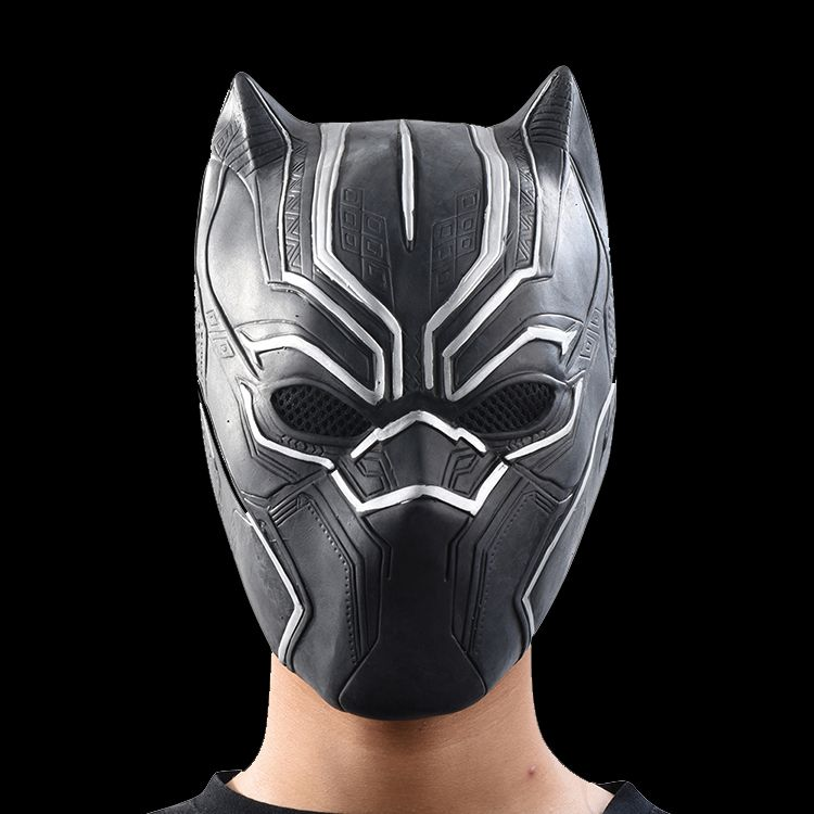 Black Panther Masks Movie <font><b>Roles</b></font> Cosplay Costume Adults Halloween Mask Realistic Men's Latex Party Mask