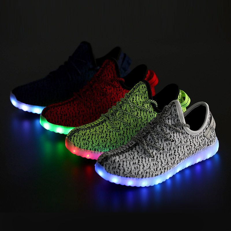 Men adult Led Luminous Shoes 2016 Top Quality LED Lights USB charging Colorful Shoes Lovers sneakers Flash Shoes free shipping