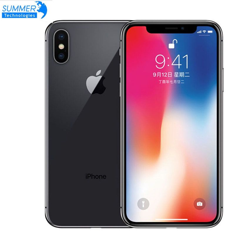 Entsperrt Original Entsperrt Apple iPhone X Hexa Core Smartphone Telefon 256 GB/64 GB ROM 3GB RAM Dual hinten Kamera 12MP 5,8