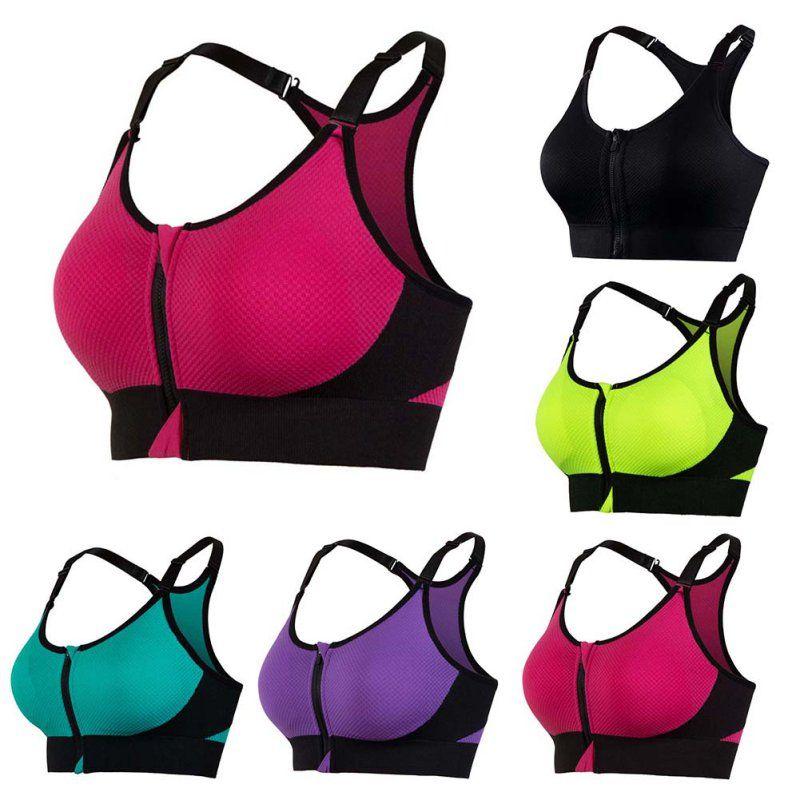 NEUE Professionelle Frauen Yoga Bh Sport-Bh für Lauf Gym Fitness Sportlich Bhs Padded Push Up Tank Tops