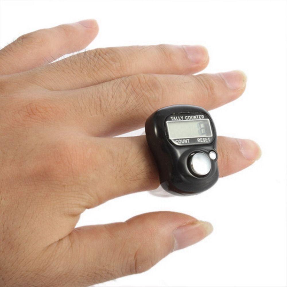 Mini 5-stelliges LCD Elektronische Digital Golf Finger Hand Ring Tally Zähler Schwarz Farbe Drop Shipping