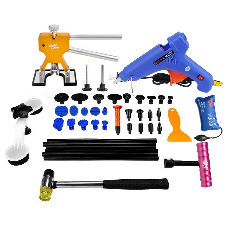 PDR Tools Paintless Dent Repair Tools Car Hail Damage Repair Tool Hot Melt Glue Sticks Glue Gun Puller Tabs Kit Ferramentas