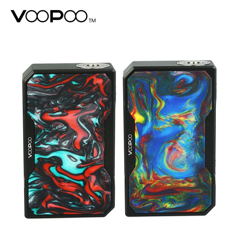 157W Original VOOPOO Black Drag Resin TC Box MOD 1-40A Working Current No 18650 Battery E-cigarette TC Box Mod Vs VOOPOO Drag