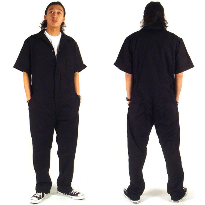 Cotton men Sets Short sleeved overalls jumpsuit Safety Clothing Thin Leotard Repair auto Welders Crew Painter Car wash worker