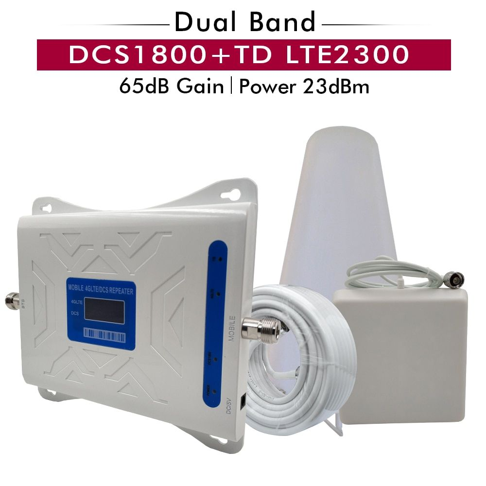 2G 4G Dual Band Signal Repeater DCS/LTE 1800 + TD LTE 2300 Mobile Signal Booster (b3) 1800 + (B40) TDD 2300 Handy Signal Verstärker