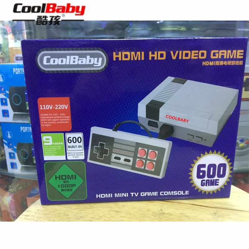 CoolBaby HDMI/AV output RS-38 RS-39 Built-In 600 Games Mini TV Family Game Console 8 Bit Retro Video Classic Game Console